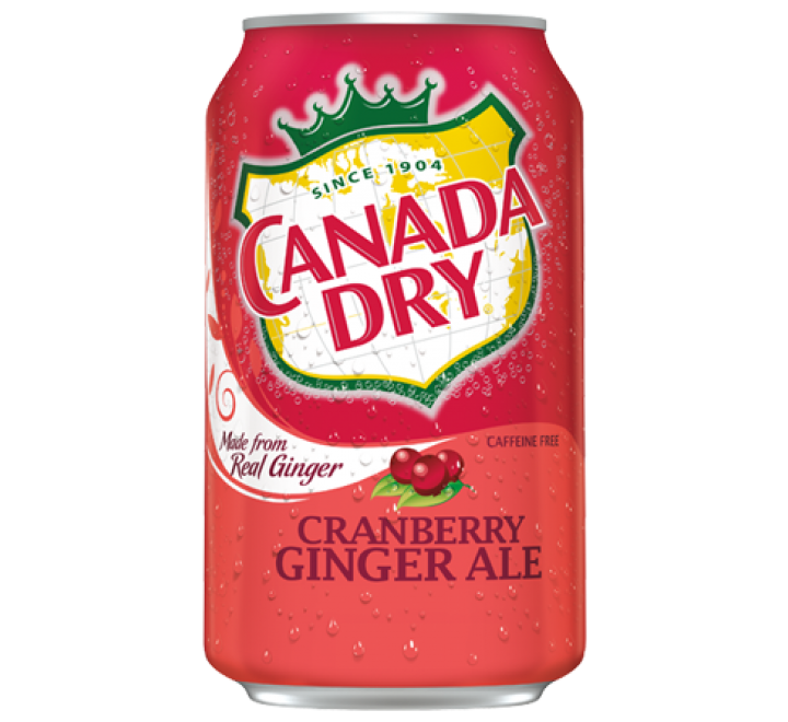 Canada Dry Ginger Ale, Cranberry (355ml)