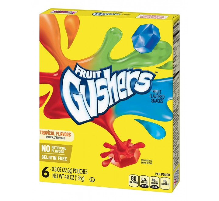 Fruit Gushers, Tropical Flavors (153g)