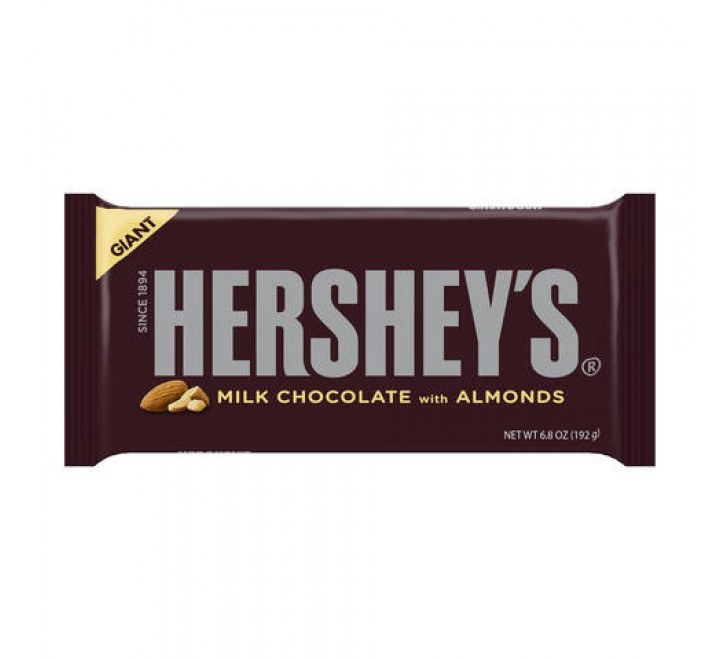 Hershey's Milk Chocolate Giant Bar With Almonds (192g)