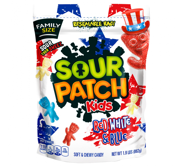 Sour Patch Kids, Red White & Blue (862g)